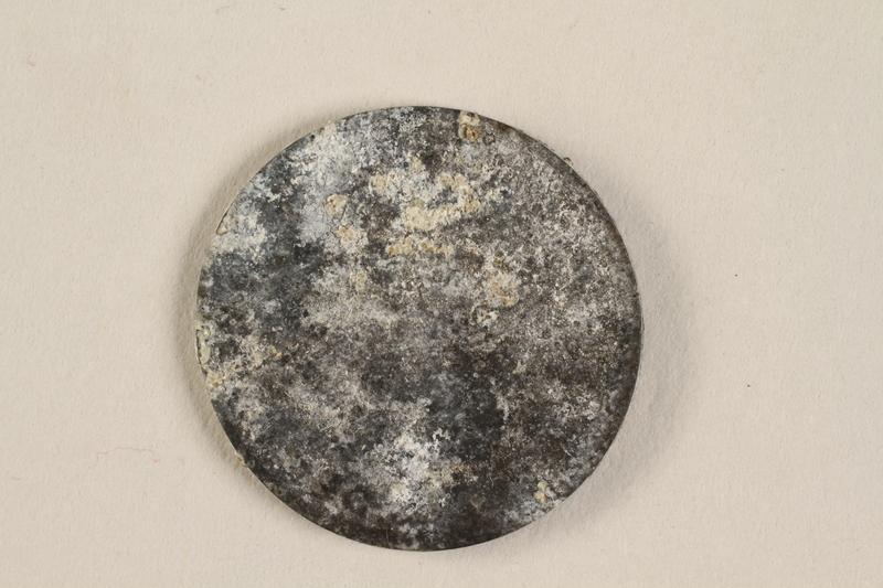 1990.60.17 back Łódź (Litzmannstadt) ghetto scrip, 5 mark coin