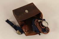 1990.80.2 open G. Boulitte brand manual aneroid sphygmomanometer and case  Click to enlarge