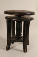1990.82.3 front Music stool handmade in prewar Poland  Click to enlarge