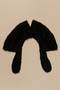 Black fetal horse fur coat collar with tear drop ends brought to the US by a Jewish family fleeing German occupied Poland