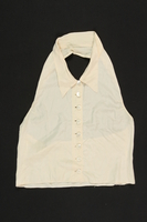 2009.376.3 front Woman's white silk dickey brought to the US by a Jewish family fleeing German occupied Poland  Click to enlarge