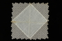 Lace bordered white handkerchief brought to the US by a Jewish family fleeing German occupied Poland