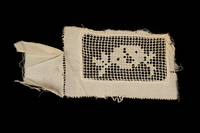 2009.376.21_b front Four white filet embroidered net inserts brought to the US by a Jewish family fleeing German occupied Poland  Click to enlarge