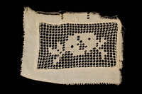 2009.376.21_c front Four white filet embroidered net inserts brought to the US by a Jewish family fleeing German occupied Poland  Click to enlarge