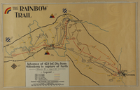 2010.130.2 front Copy of hand drawn map, Rainbow Division advance into Germany by division member  Click to enlarge