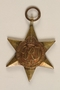 Africa Star Medal and ribbon awarded to an Austrian Jewish woman for service in the British Auxiliary Territorial Division
