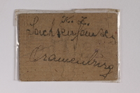 2010.191.5 back Sachsenhausen-Oranienburg concentration camp scrip, wert 10, received by a Polish Jewish inmate  Click to enlarge