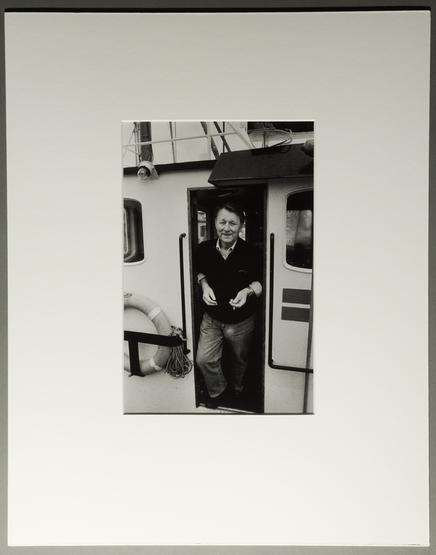 2010.206.8 front Portrait photograph by Judy Glickman of man who rowed several groups of Jews to safety