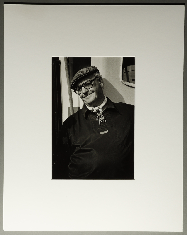 2010.206.9 front Portrait photograph by Judy Glickman of Danish fisherman who helped take Jews to safety