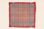 Red plaid handkerchief used in the Warsaw ghetto