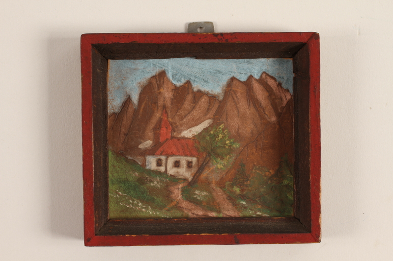 2008.228.25 front Miniature oil painting created in a displaced persons camp