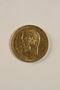 Imperial Russia, gold 5 ruble coin saved by a Jewish Polish family living with partisans