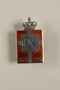 Kingmark silver and red enamel pin with a buttonhole back commemorating the 70th birthday in 1940 of King Christian X of Denmark