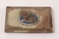 2010.441.7 top Large ink pad in a metal box used by a Dutch resistance member to forge identity cards  Click to enlarge