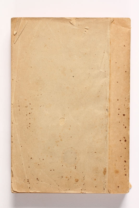 2010.441.14 back Account book used by a Dutch resistance member to forge identity cards