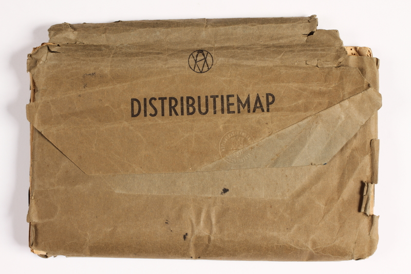 2010.441.15 front Map folder used by a Dutch resistance member to forge identity cards