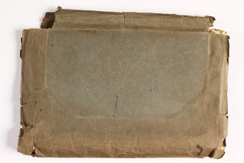 2010.441.15 back Map folder used by a Dutch resistance member to forge identity cards