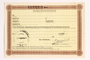 Unused identification card for use by a Dutch resistance member to forge identity cards