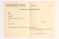 2010.441.34 front Blank sheet of paper for use by a Dutch resistance member to forge identity cards  Click to enlarge
