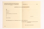 Blank sheet of paper for use by a Dutch resistance member to forge identity cards