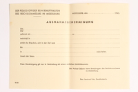 2010.441.39 front Blank sheet of paper for use by a Dutch resistance member to forge identity cards  Click to enlarge