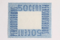 2010.441.77 front Postage stamp for use by a Dutch resistance member to forge identity cards  Click to enlarge