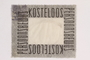 Postage stamp for use by a Dutch resistance member to forge identity cards