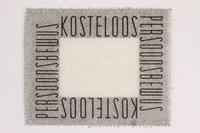 2010.441.90 front Postage stamp for use by a Dutch resistance member to forge identity cards  Click to enlarge