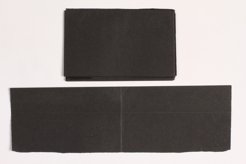 2010.441.101 a-b front Unused carbon paper in 2 pieces for use by a Dutch resistance member to forge identity cards