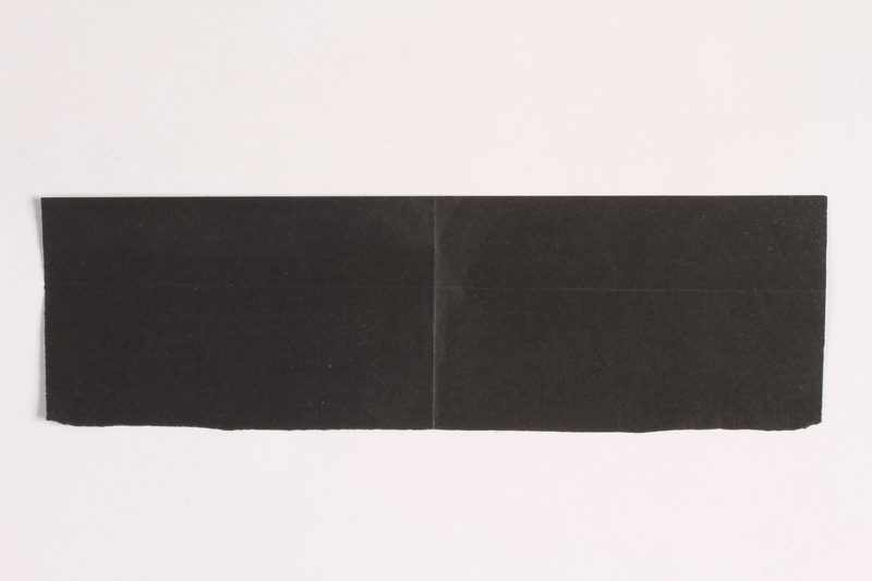 2010.441.101 b front Unused carbon paper in 2 pieces for use by a Dutch resistance member to forge identity cards
