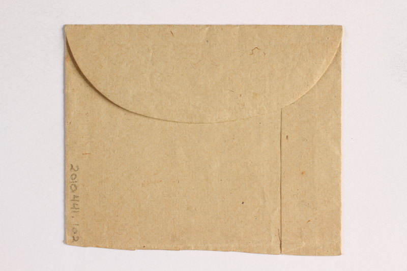 2010.441.102 back Part of an envelope used by a Dutch resistance member who forged identity cards