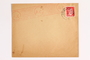 Envelope with a cancelled stamp for use by a Dutch resistance member who forged identity cards