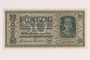 Occupation currency note, 50 Karbowanez, issued by Nazi Germany in eastern Poland