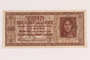 Occupation currency note, 10 Karbowanez, issued by Nazi Germany in eastern Poland