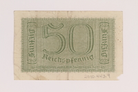 2010.443.9 back Occupation credit treasury note, 50 Reichspfennig, issued by Nazi Germany  Click to enlarge
