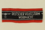 Deutscher Volkssturm Wehrmacht armband with an Imperial eagle taken by a US soldier