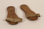 Wooden sandals with a canvas strap worn by a Mir Yeshiva refugee in Shanghai