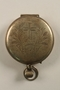Sterling silver communion host pyx engraved with a cross, wheat, and a grape cluster used by a US Army chaplain