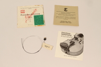 2010.472.2 m open Violin, bows, case and accessories recovered from Łódź ghetto and played in DP camps by a Polish Jewish musician  Click to enlarge