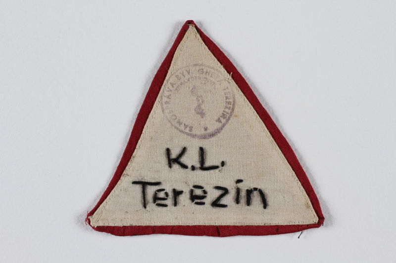 1991.117.3 front Armband badge worn in Theresienstadt