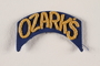 US Army 102nd Infantry Division arched Ozark's patch worn by a soldier