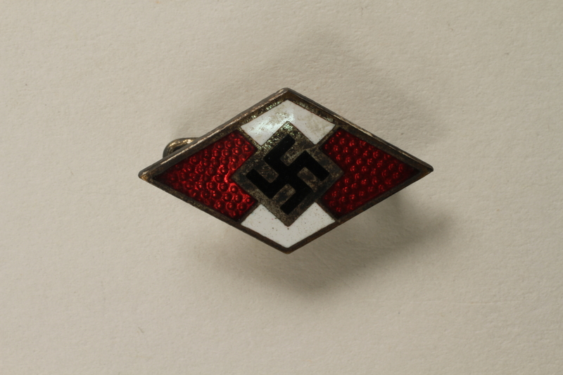 Hitlerjugend [Hitler Youth] enamel membership pin acquired by a US