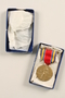 World War II Victory Medal with ribbon and box awarded to a US soldier