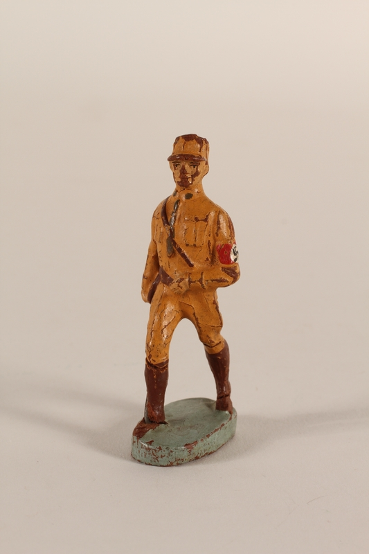 1991.120.1 front Hausser uniformed SA toy soldier with swastika armband