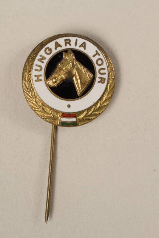 2006.19.6 front HUNGARIA TOUR stickpin owned by a German Jewish businessman in Shanghai