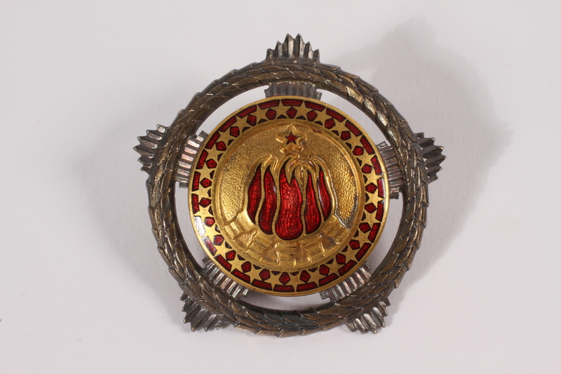2011.108.11 a front Orden Bratstva I Jedinstva awarded to a Macedonian Jewish partisan woman
