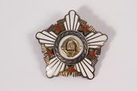 2011.108.12 a front Ordena Republike Sa Srebrnim Vencem awarded to a Macedonian Jewish partisan woman  Click to enlarge