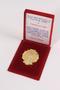 30th anniversary hospital medallion and box awarded to a Macedonian Jewish man