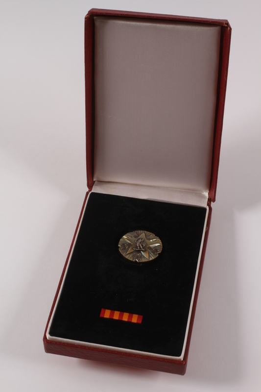 2011.108.25 a-c front Orden Zasluge Za Narod awarded to a Macedonian Jewish partisan woman