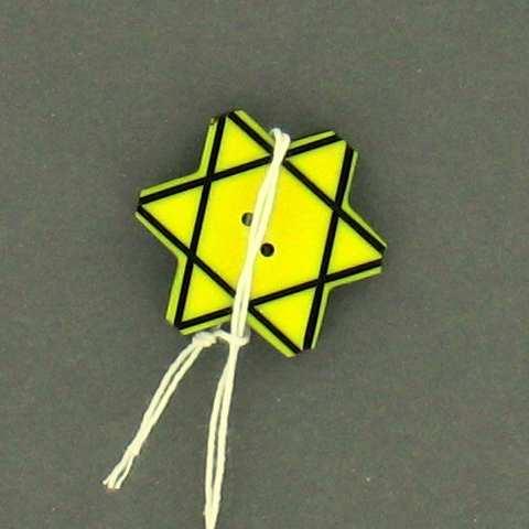 Star of David button used to identify a Bulgarian Jew